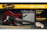 Squier Affinity Candy Apple Red HSS Strat Pack By Fender