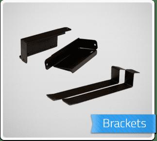 PedalTrain Universal Power Supply Mounting Brackets UBKT – 2