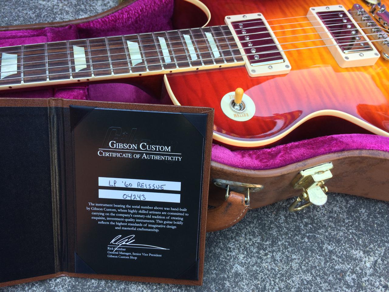 Gibson Les Paul Custom Period Correct 1960 Historic