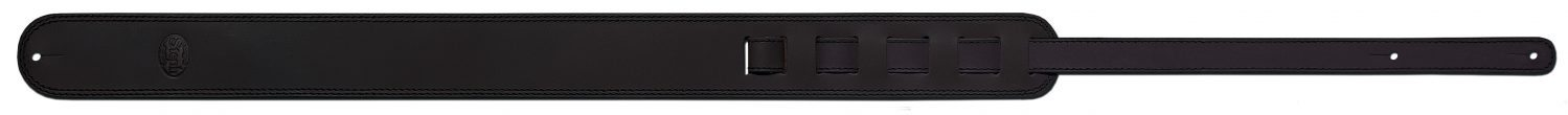 Steph Accessories Old vintage leather strap, dual contrast stitch, embossed logo, 6 cm wide - Brown