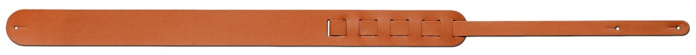 Steph Accessories Split leather strap, round ends, 6 cm wide - Tan