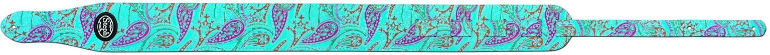 Steph Paisley Guitar Strap 7cm - Turquoise Paisley