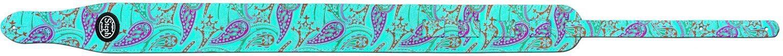 Steph Paisley Guitar Strap 7cm - Turquoise Paisley