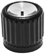 Loknob Universal ABS 3/4 OB Black Silver