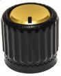 Loknob  Universal ABS 3/4 OD Black Gold 14128-BG