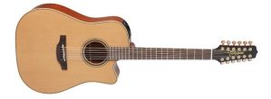 Takamine Pro Series TP3DC12 Solid Cedar 12 String Acoustic Electric Guitar