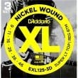 D'Addario EXL125-3D Nickel Wound Electric Guitar Strings 9-46 3-Pack