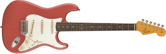 Fender Custom Shop 1964 Stratocaster Journeyman Relic Rosewood Fingerboard Super Faded Aged Fiesta Red 9235000516_gtr_frt_001_rr