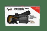 Squier Affinity Series Stratocaster HSS Pack Laurel Fingerboard Brown Sunburst 0371824332_pck_frt_001_nr