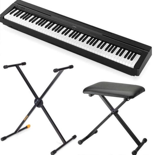 Yamaha P45 Digital Piano package with Hercules Stand and Spectrum Throne 2