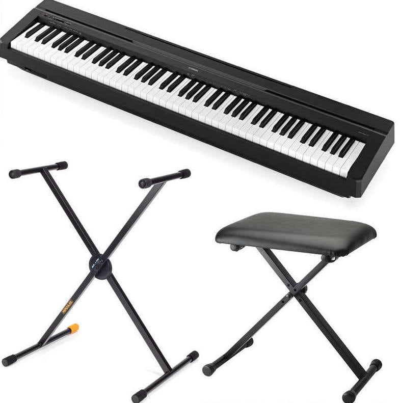 yamaha p45 digital piano package with hercules stand eastgate music. Black Bedroom Furniture Sets. Home Design Ideas