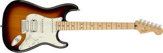 Fender Player Stratocaster HSS Maple Fingerboard 3-Color Sunburst 0144522500_gtr_frt_001_rr