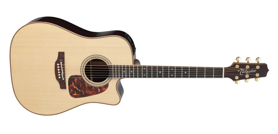 Takamine TP7DC Dreadnought Acoustic Electric Guitar w Pickup Natural Finish