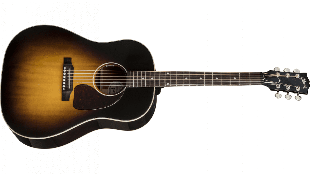 Gibson J-45 Standard Acoustic Electric Guitar Vintage Sunburst 1