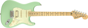 American Performer Stratocaster HSS Maple Fingerboard Satin Surf Green