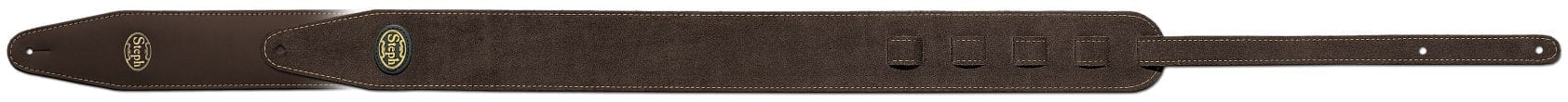 Steph Accessories Cow Split Leather Strap Reversible Brown Brown