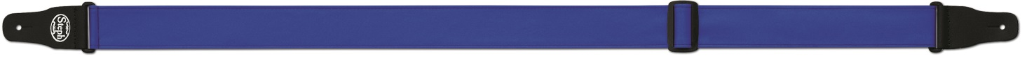 Steph Accessories Folded Leathercrest Strap 5cm Wide Blue