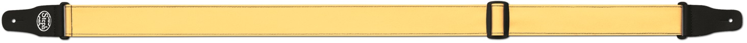Steph Accessories Folded Leathercrest Strap Split leather ends 5cm Wide Yellow